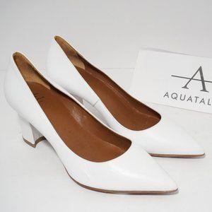 🆕Aquatalia Waterproof Pointed Toe White Leather